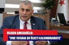 """Olgun Amcaoğlu: """"Evde yatarak bu ülkeyi kalkındıramayız"""""""