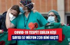 COVID-19 tespit edilen kişi sayısı 57 milyon 239 bini geçti