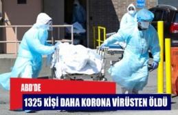 ABD'de 1325 kişi daha koronavirüsten öldü