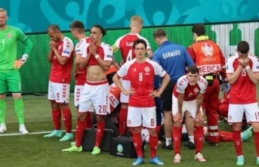 EURO 2020'de korkutan anlar: Eriksen yere yığıldı