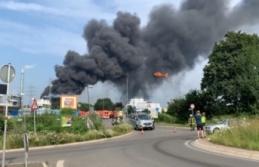 Almanya'daki kimya tesisinin katı atık yakma alanında patlama