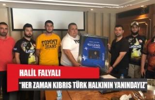 """Falyalı : """"Her Zaman Kıbrıs Türk Halkının..."""