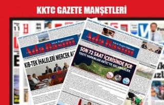 KKTC Gazetelerinin Manşetleri  / 29 Haziran 2020