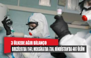Meksika, Brezilya ve Hindistan'da COVID-19 ölümleri...