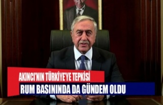 Akıncı'nın Türkiye'ye tepkisi Rum Basınında