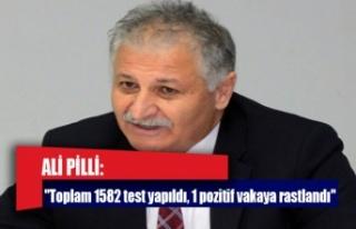 """Bakan Pilli: """"Toplam 1582 test yapıldı, 1 pozitif..."""