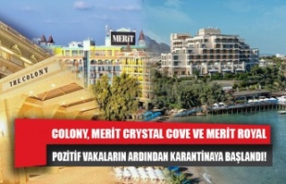 COLONY, MERİT CRYSTAL COVE VE MERİT ROYAL POZİTİF...