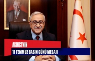 CUMHURBAŞKANI AKINCI'NIN 11 TEMMUZ BASIN GÜNÜ...