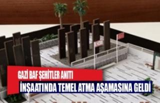 Gazi Baf Şehitler Anıtı inşaatında temel atma...