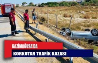 Gazimağusa'da feci kaza!