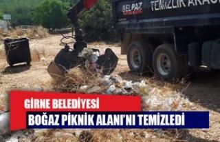 Girne Belediyesi, Boğaz Piknik Alanı'nı temizledi