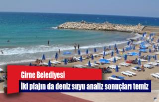 İki plajın da deniz suyu analiz sonuçları temiz