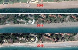 Konyaaltı Sahili 60 yılda 35 metre eridi, bir havluluk...