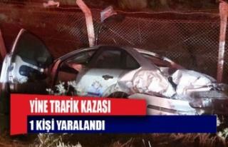 Mağusa'da trafik kazası: 1 kişi yaralandı