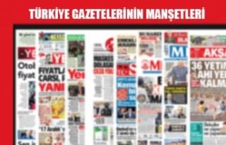 Türkiye Gazetelerinin Manşetleri / 15 Temmuz 2020