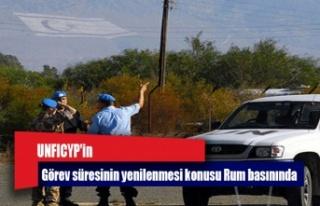 UNFICYP'in görev süresinin yenilenmesi konusu...