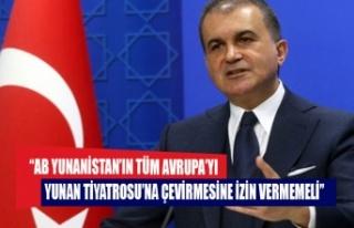 AK Parti Sözcüsü Çelik: AB Yunanistan'ın tüm...
