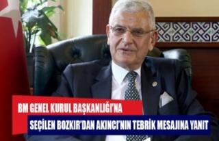 BM GENEL KURUL BAŞKANLIĞI'NA SEÇİLEN BOZKIR'DAN...