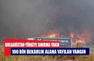 Bulgaristan-Türkiye sınırındaki yangın kısmen...