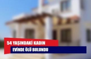 Çatalköy'de 54 yaşındaki kadın evinde ölü...