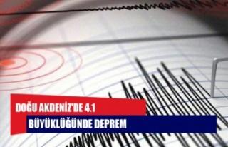 Doğu Akdeniz'de 4.1 büyüklüğünde deprem