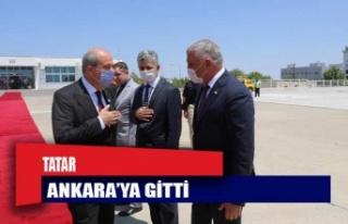 Ersin Tatar Ankara'ya gitti