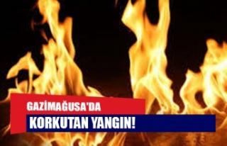 Gazimağusa'da korkutan yangın!