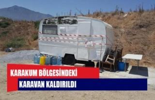 Girne Belediyesi zabıta ekipleri, Karakum bölgesindeki...