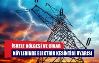 İskele bölgesi ve civar köylerinde elektrik kesintisi...