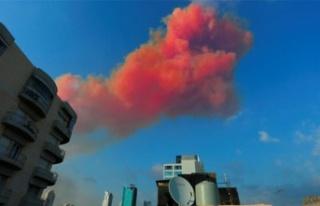 Korkutan patlama nedeniyle oluşan zehirli gazlar...
