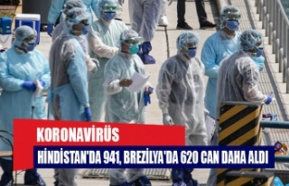 Koronavirüs Hindistan'da 941, Brezilya'da...