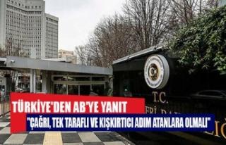 Türkiye'den AB'ye yanıtTürkiye'den...