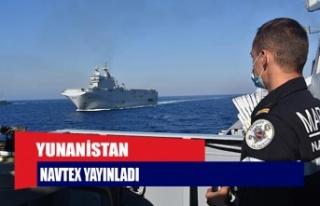 Yunanistan Navtex yayınladı