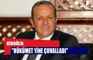 """Ataoğlu: """"Hükümet yine çuvalladı"""""""