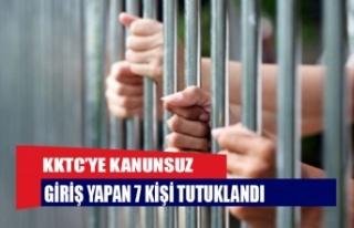 KKTC'ye kanunsuz giriş yapan 7 kişi tutuklandı