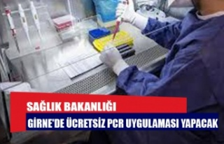Sağlık Bakanlığı Girne'de ücretsiz PCR...