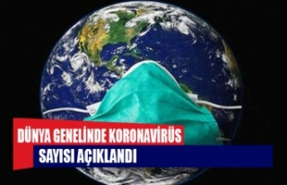 Dünya genelinde Covid-19 tespit edilen kişi sayısı...