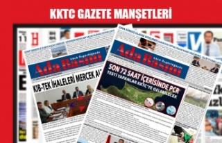 KKTC Gazetelerinin Manşetleri / 1 Ekim 2020