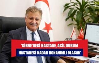 Ali Pilli: 'Girne'deki hastane, Acil Durum...