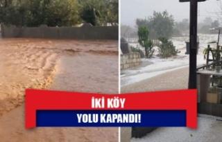 İki köy yolu kapandı!