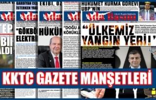 KKTC Gazetelerinin Manşetleri / 16 Kasım 2020