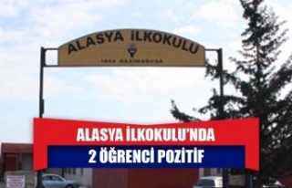 Alasya İlkokulu'nda 2 öğrenci pozitif