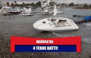 Mağusa'da 4 tekne battı!