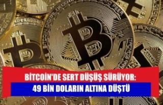 Bitcoin'de sert düşüş sürüyor: 49 bin Doların...