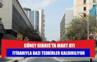 GÜNEY KIBRIS'TA MART AYI İTİBARIYLA BAZI TEDBİRLER...