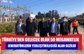 Türkiye'den gelecek olan 50 megawatlık jeneratörlerin...