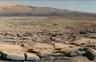 Mars'ın yüzeyinden kaybolan suyun kabuğunda...