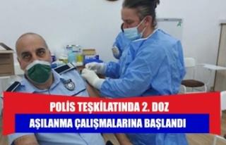 POLİS TEŞKİLATINDA 2. DOZ AŞILANMA ÇALIŞMALARINA...
