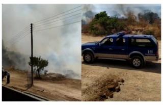 Esentepe - Karpaz Anayolu'nda yangın