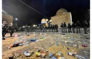 İsrail yine Mescid-i Aksa'yı hedef aldı